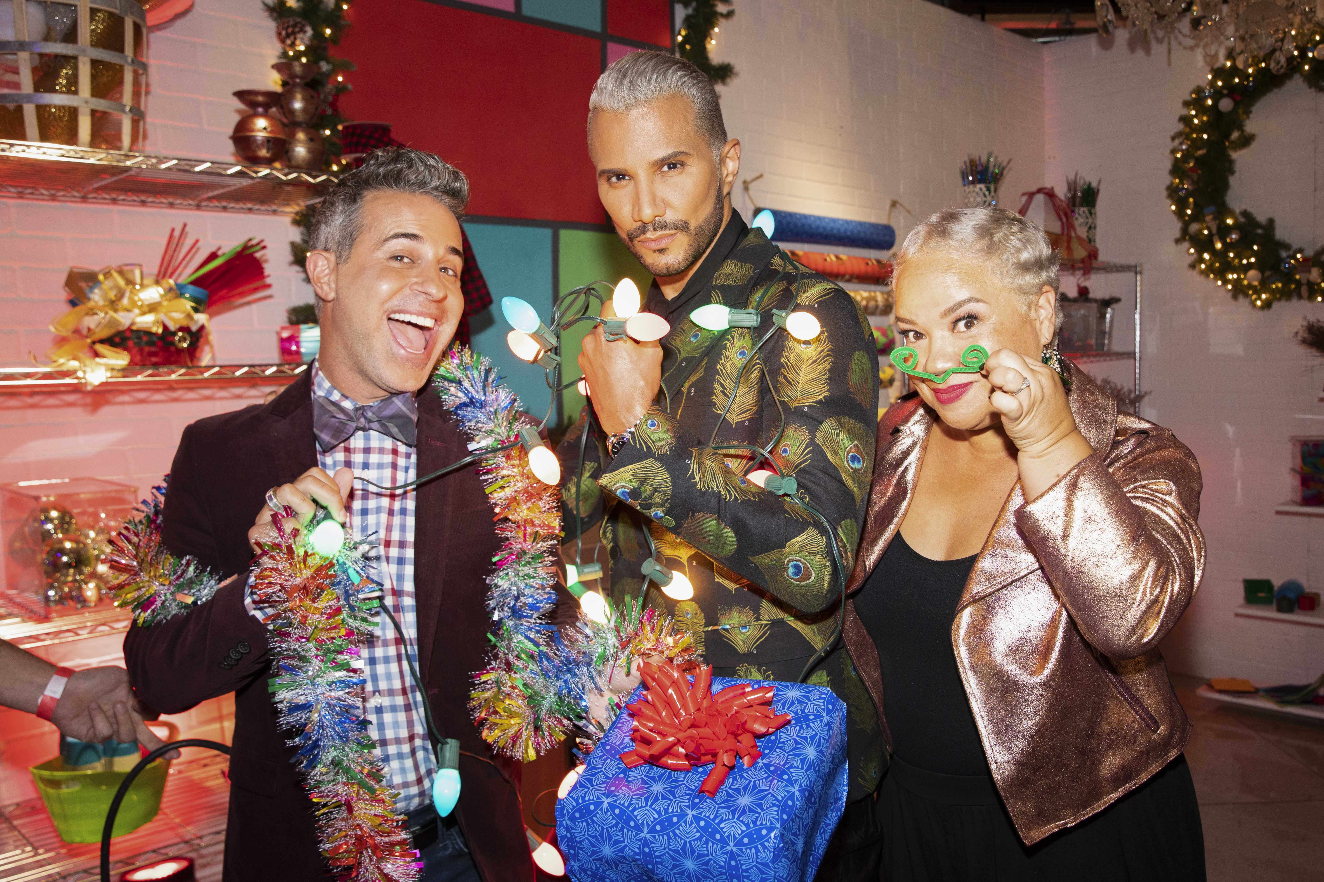 HGTV Holiday Crafters Gone Wild Judges Jay Manuel, Kim Myles, and Mikie Russo